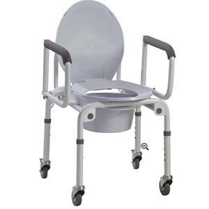 Chaise d'aisance: Accoudoirs Rabattable (avec roues)