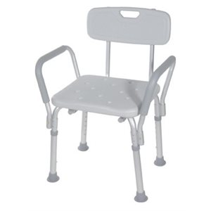Bath and Shower Chair: Removable Armrests