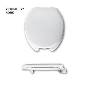 """Toilet Seat: Round - 2"""" or 3"""" Raise (with cover)"""