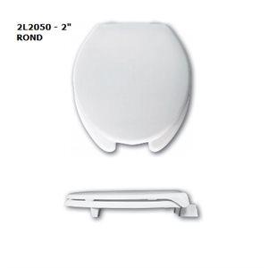 """Siège de Toilette: Rond - Surélévation de 2"""" ou 3"""" (avec couvercle)"""
