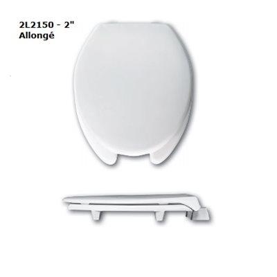 """Siège de Toilette: Allongé - Surélévation de 2"""" ou 3"""" (avec couvercle)"""