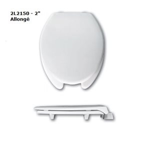 """Toilet Seat: Elongated - 2"""" or 3"""" Raise (with cover)"""