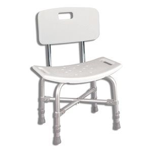 Bath and Shower Bench: Heavy Duty Deluxe (with backrest)