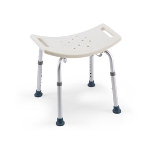 Bath and Shower Chair: No backrest