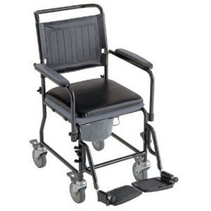 Commode: Padded (4 wheels)