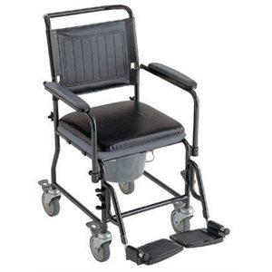 Chaise d'aisance: Rembourré (4 roues)