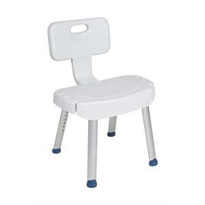Bath and Shower Chair: Folding Back